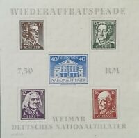 SBZ Thüringen Block 3AX+3Baya * mit je 2 Falzen oben Mi€: 70,00
