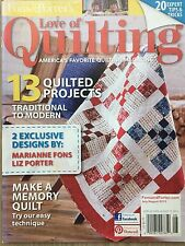 Fons & Porter's Love of Quilting Magazine Jul/Aug 2013 Make A Memory Quilt