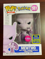 Funko Pop! Pokemon Flocked Mewtwo #581 2020 SDCC Shared Exclusive IN HAND