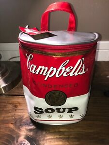 Vintage NEW WITH Tag 1997 Brunetti Designs Campbell's Soup Vinyl Sling Bag Purse