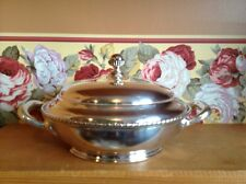 Antique Simpson Hall Miller Co. silverplate 2 section Serving Bowl Multi Use
