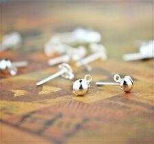 Ohrstecker mit Öse und Stöpsel schwarz Perlen neu Beads 10761