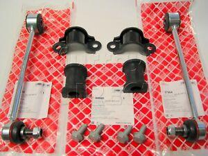 FEBI REAR Anti Roll Bar Links, Inner Bushes & Clamps Kit for VW Caddy 2004-2011
