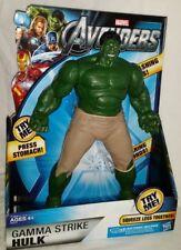 "MISP Hasbro Marvel Avengers 10"" GAMMA STRIKE HULK Smashing Fists Roaring Sounds"