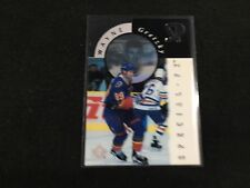 Wayne Gretzky St. Louis Blues 1995-96 SP Holoview Special FX Die Cut Hockey Card