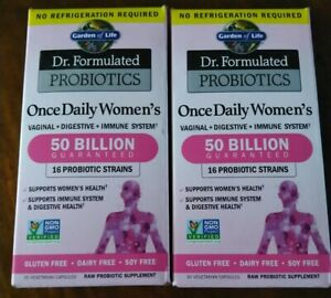 2 Dr Formulated Formulated Probiotics Once Daily Womens 50 Billion  exp 08/21