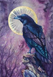 Dark Celtic mythology PAGAN Goth CARD Morrigan RAVEN Wicca