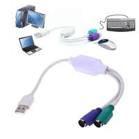 USB vers PS2 USB-vers-PS2 Adaptateur clavier / souris Connexion Y Câ PM