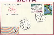 ITALIA FDC CAVALLINO CAMPIONATO CALCIO SERIE A 1991 - 92 NAPOLI S3