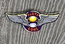 Bally PARTY ZONE Original 1991 Pinball Machine Plastic Promo Keychain Vintage