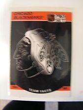 Chicago Blackhawks History 1990 - 1991 Team Facts Card NHL Pro Set #569 VG