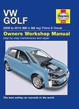 Haynes Owners Workshop Manual Volkswagen VW Golf (09-12) SERVICE REPAIR