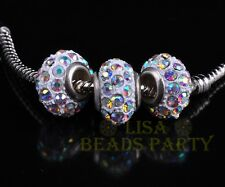 14X9mm 5pcs Opal-AB  Rondelle Fimo Polymer Clay Porcelain Rhinestone Loose Beads