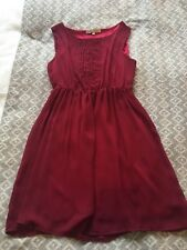 Cameo Rose Red Satin Dress Size 12 VGC - Christmas Party