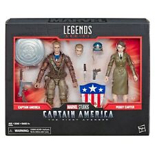 MARVEL LEGENDS 80TH ANNIVERSARY AVENGERS CAPTAIN AMERICA & PEGGY CARTER 2 PACK
