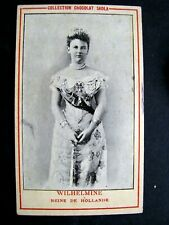Chromo Chocolat SADLA-1900 Wilhelmine Reine de Hollande