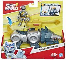 Power Rangers Playskool Heroes Silver Ranger & Wolf Zord Figure Set