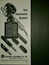 1943 SW-217 VOICE COMMUNICATION EQUIPMENT WWII vtg UNIVERSAL MICROPHONE Trade ad