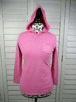 Vineyard Vines Long Sleeve Hooded Top Girls Large Pink Kids Hood Shirt Whale