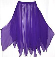 Boho Gypsy Hippie Belly Dance Dancing Festival Fairy Petal Pixie Costume Skirt