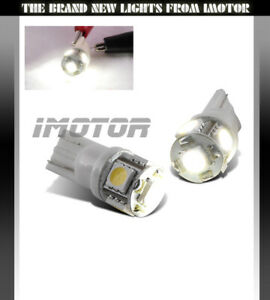 2X WHITE 5-LED SMD 168/194/2825/T10 REAR LICENSE PLATE LIGHT/CITY Bulbs Pair New