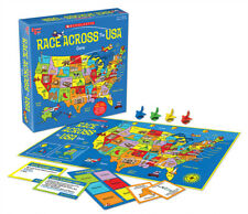 SCHOLASTIC RACE ACROSS THE USA - KIDS EDUCATIONAL BOARD GAME UNIVERSITY GAMES