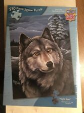 """Wolf Jigsaw Puzzle """"Night Eyes"""" 550 Piece New/Sealed By Master Pieces"""