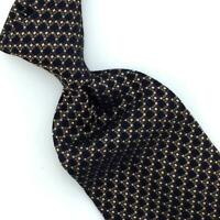 Brioni Tie Italy Woven Micro Squares Black Brown Necktie Luxury Silk Ties L4 New