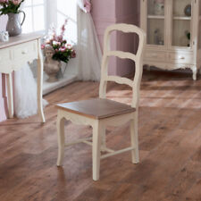 Country Vintage Cream Distressed Wooden Farmhouse Chair Dining Bedroom Seating