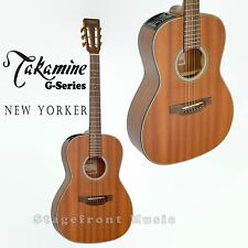 TAKAMINE GY11MENS NEW YORKER BODY ALL MAHOGANY ACOUSTIC /ELECTRIC GUITAR