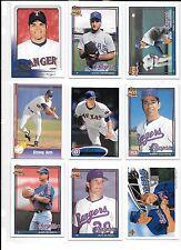 Derek Holland plus 8 more Texas Rangers baseball card lot