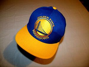 Golden State Warriors Blue Hat/Yellow Brim Mitchell & Ness JRP Snapback 20% Wool