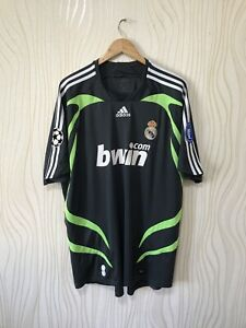 REAL MADRID 2007 2008 THIRD FOOTBALL SHIRT CHAMPIONS LEAGUE ADIDAS