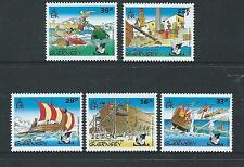 GUERNSEY 1992 ASTERIX THE GAUL SET OF 5 UNMOUNTED MINT, MNH