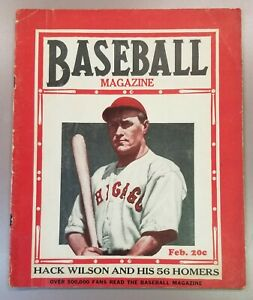 1931 February Baseball Magazine Hack Wilson