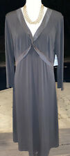 BCBG Paris Womens NWT Black V-neck Dress Stretch Sz XL