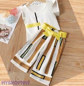 Girls set 2 pcs Top Pants sets Outfit Kids Summer Set Age 3 4 5 6 7 8 years
