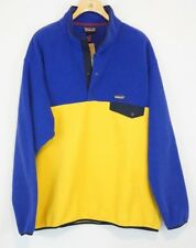 Patagonia NEW Synchilla Mens Snap T Fleece Jacket Size XXL Pullover Blue Yellow