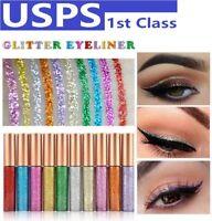 10Color Waterproof Shiny Eyeshadow Glitter Liquid Eyeliner Makeup Eye Liner Pen