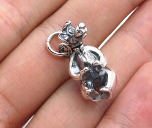 Walt Disney Vintage Sterling Silver Baloo The Jungle Book Movable Used Charm