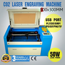 50W MACHINE LASER A GRAVER U-FLASH DECOUPEUR CO2 GAZ Laser Cutting 500X300MM