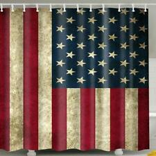 United States of America National Flag USA Stars Stripes Bathroom Shower Curtain