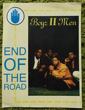 Boyz II Men - End of the Road (From Film Boomerang): 1992 P.V.G. Sheet Music 3pg