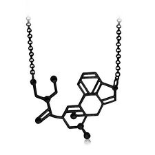 LSD ACID MOLECULE PENDANT NECKLACE Jewellery Gift Idea Science Biology Chemical