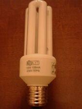 LOTTO STOCK PZ 10 LAMPADINE LAMPADA 15 W E27 BASSO CONSUMO 3 TUBI  LUCE CALDA