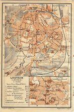 Antique map carte Louvain plattegrond Leuven 1914