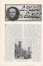 CADDEO RINALDO LA MILANO DI STENDHAL 1914 ESTRATTO IL SECOLO XX