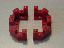 Lego Castle - 2 x Dark Red Castle Turret Top 4 x 8 x 2 1/3 (6066)