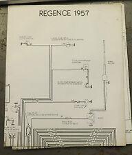 1957 Simca Regence Wiring Diagram Poster