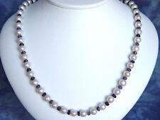 PERLENKETTE 172,63 Ct. feine 7 mm Perlen mit Iolit (697k)